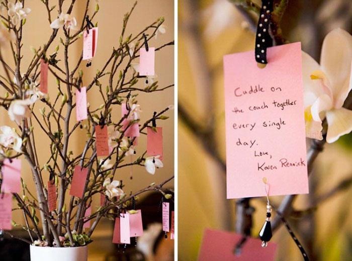 Дерево любви для пожеланий на 20 годовщину