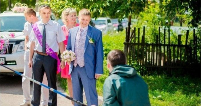 Выкуп невесты в рыбацком стиле