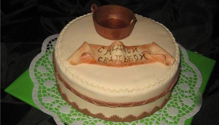 Торт для медных юбиляров