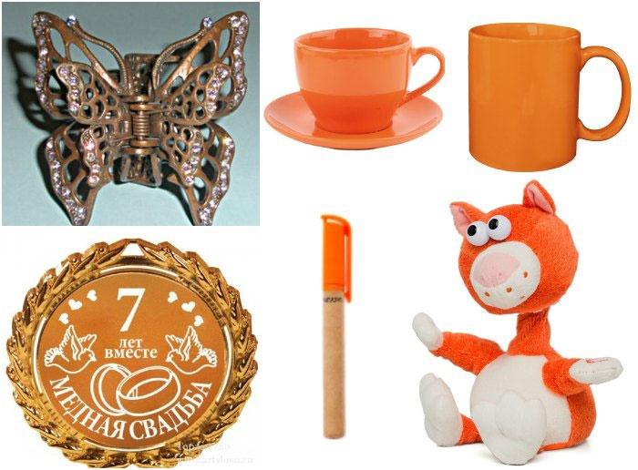 Тематические сувениры для конкурсов на седьмую годовщину