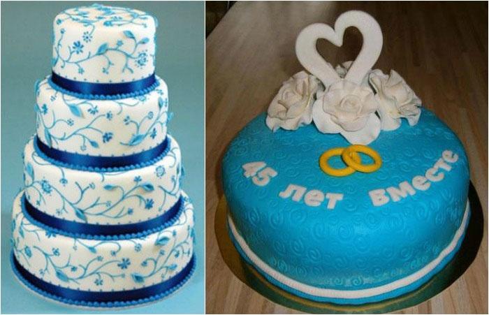 Торт на сорок пятую годовщину