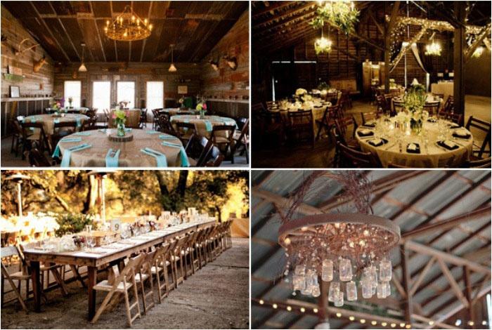 Оформление помещения деревянной свадьбы