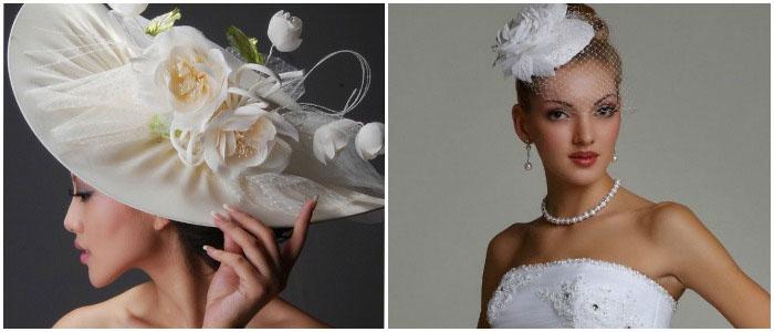 Шляпки для высоких и миниатюрных невест