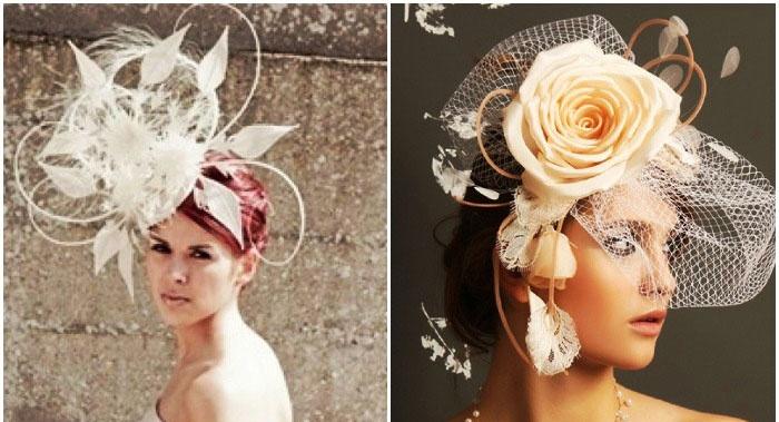 Шляпа-цветок в свадебном исполнении