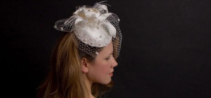 Миниатюрный свадебный головной убор