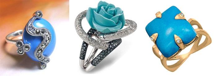 Кольца с бирюзой – подарки на 18-летие брака
