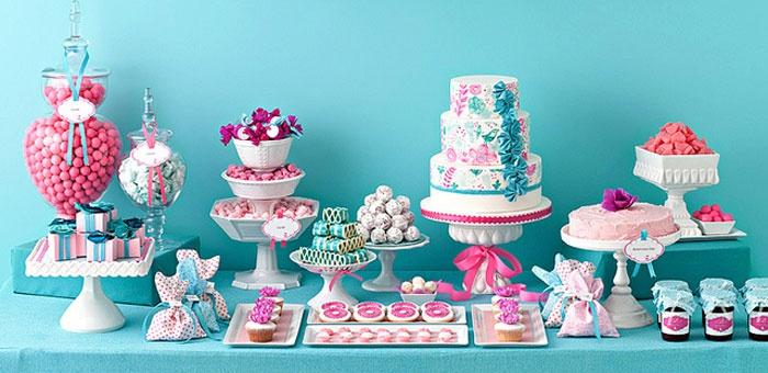 Торт в честь бирюзовой годовщины свадьбы