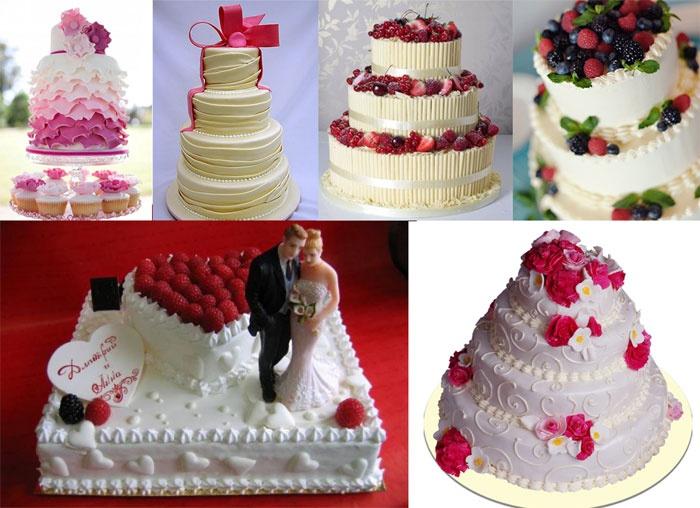 Праздничный торт на малиновую свадьбу