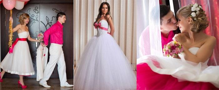 Наряды молодоженов на малиновую свадьбу