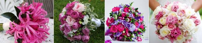 Букет невесты на малиновую свадьбу