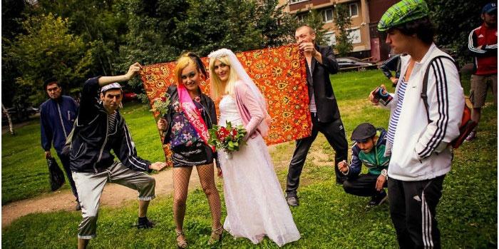 Выкуп невесты в стиле гопников