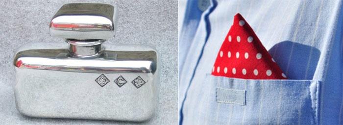 Нагрудный платок или Оловянная фляжка – стильный подарок мужу