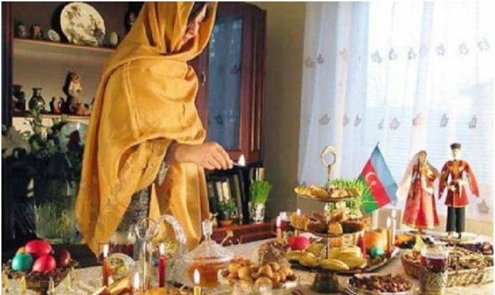 Подготовка стола к малому азербайджанскому сватовству
