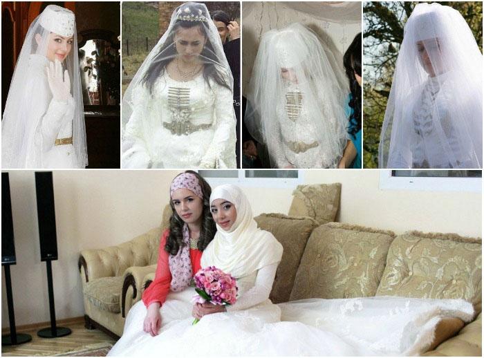 Свадебный наряд чеченской виновницы торжества