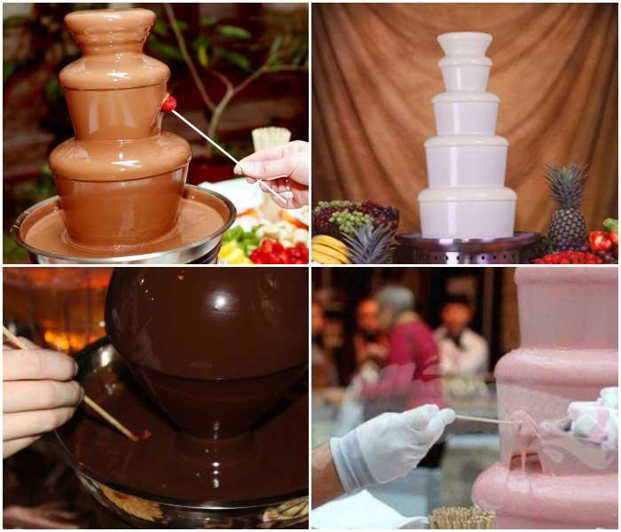 Шоколад разных сортов для фонтанного приспособления