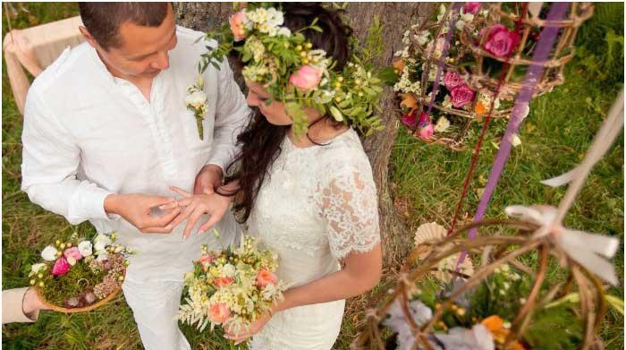 Красивая лесная свадьба