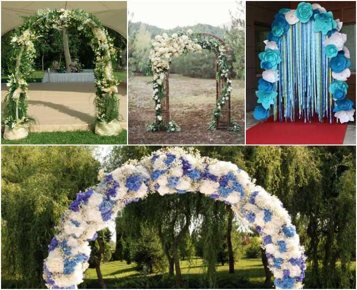 Разнообразные варианты декора арок