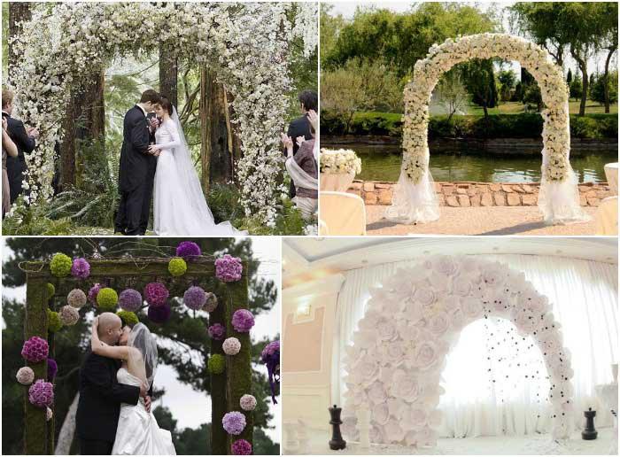 Красивые свадебные арки ручной работы
