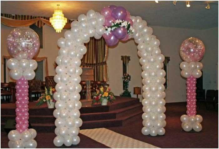 Арка с воздушными шарами