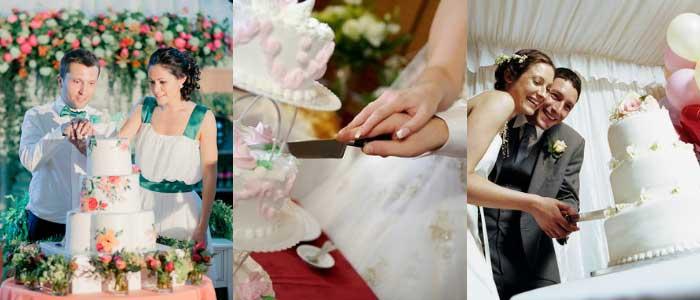 Хорошая примета – совместный разрез свадебного торта