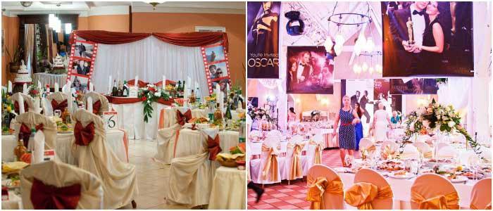 Варианты оформления зала для голливудской свадьбы