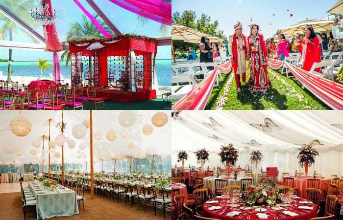 Индийская свадьба под шатрами