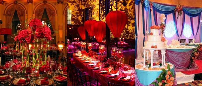 Ресторанное оформление индийской свадьбы