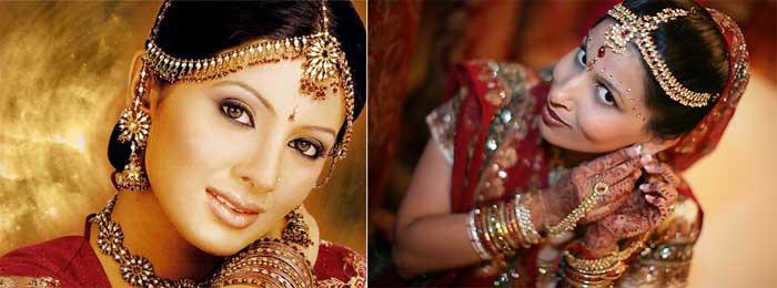 Внешний вид невесты в индийском стиле