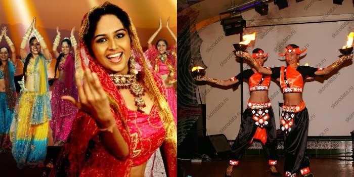 Развлечения на свадьбе в индийском образе