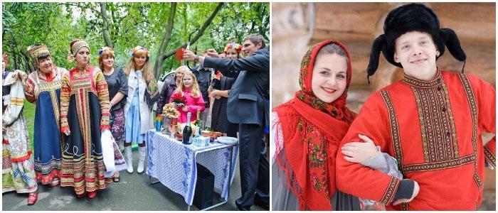 сценарий выкуп в невесты народном стиле