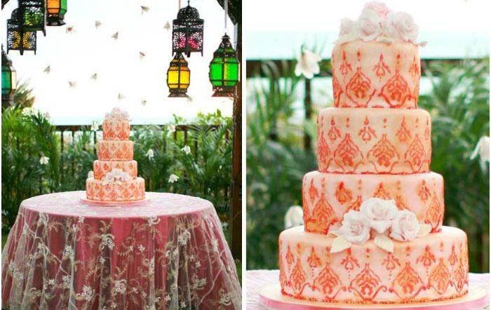 Великолепный торт с декором в марокканском стиле