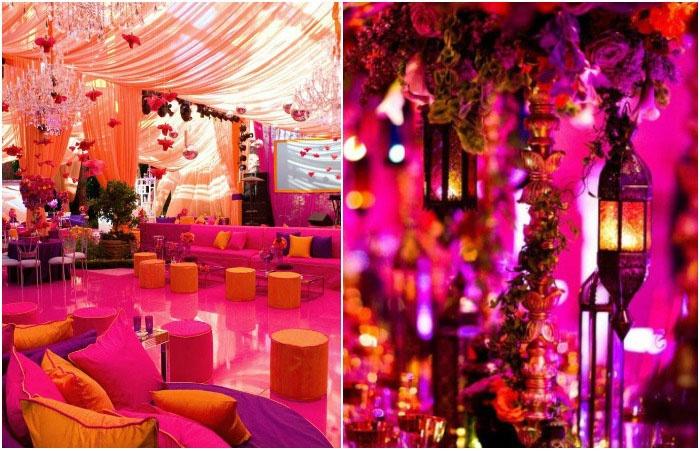 Празднование марокканского свадебного торжества под шатром