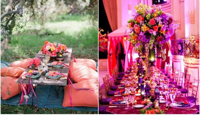 Цвета на марокканском свадебном мероприятии