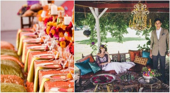 Удобные подушки для гостей марокканского праздника