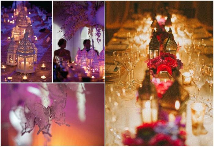 Световой декор марокканской свадьбы