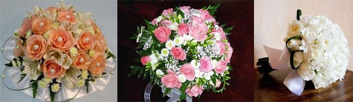 Букеты роз на свадьбу