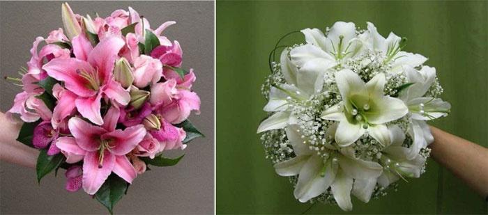 Очаровательные лилии в свадебном букете