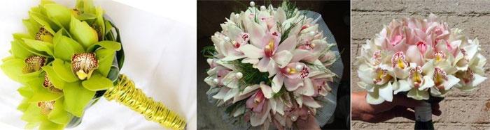 Букет орхидей для молодоженов