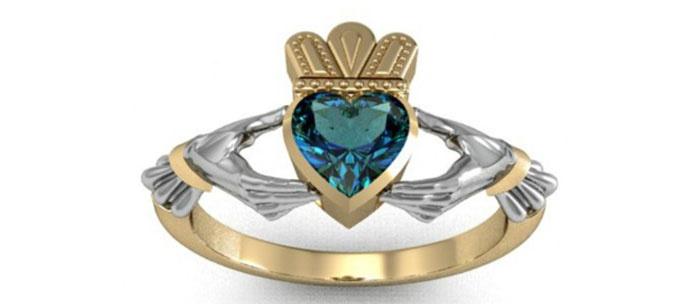Традиционное ирландское обручальное кольцо