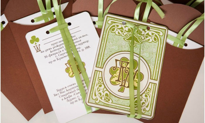 Стильные пригласительные открытки на ирландскую свадьбу