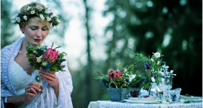 Праздничный образ ирландской невесты