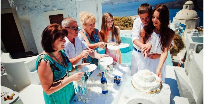 Застолье после регистрации брака по-гречески