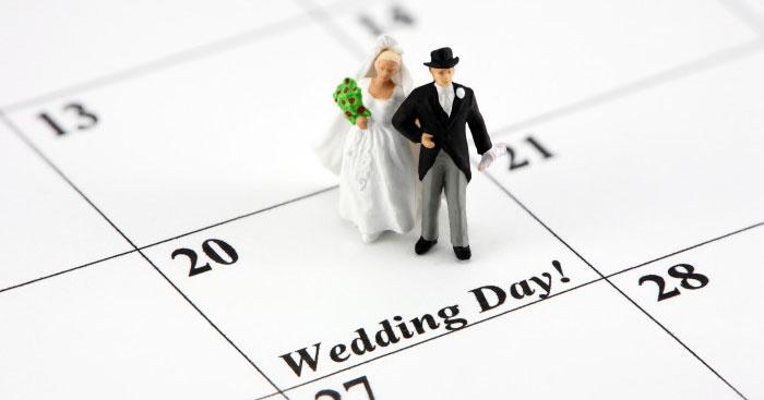 Как выбрать дату для женитьбы