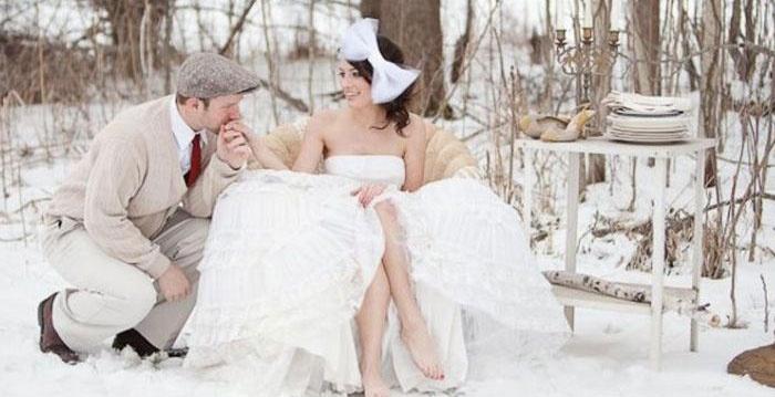 Бракосочетание зимой