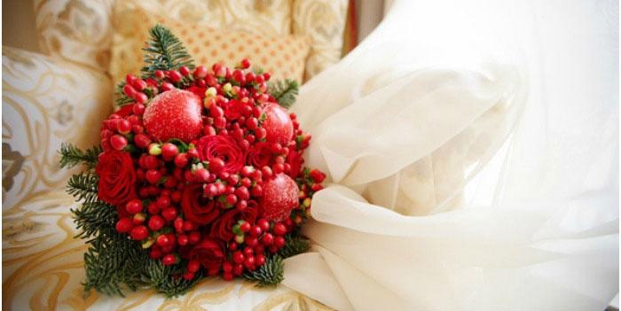 Свадебный букет невесты на русскую тематику