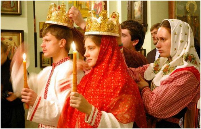 Красивое русское венчание