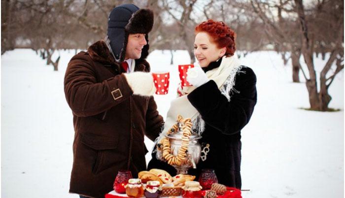 Великолепная русская зимняя свадьба