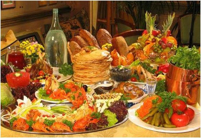 Богатая национальная русская кухня
