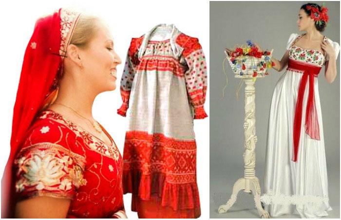 Варианты праздничного наряда для русского торжества