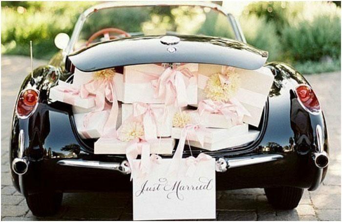 Декорированная машина для супругов как в Лас-Вегасе